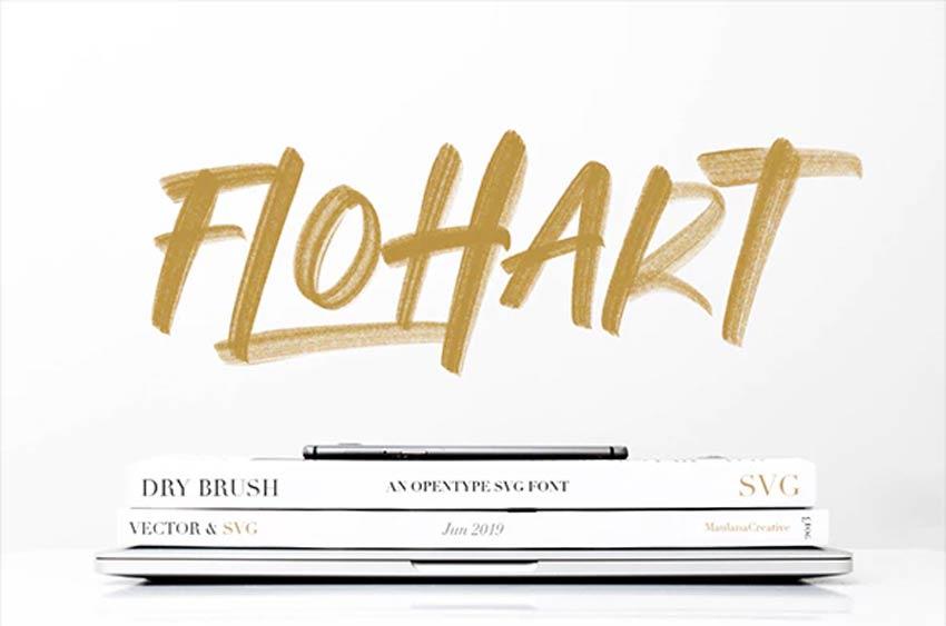 Flohart Svg Brush Script Bold Font