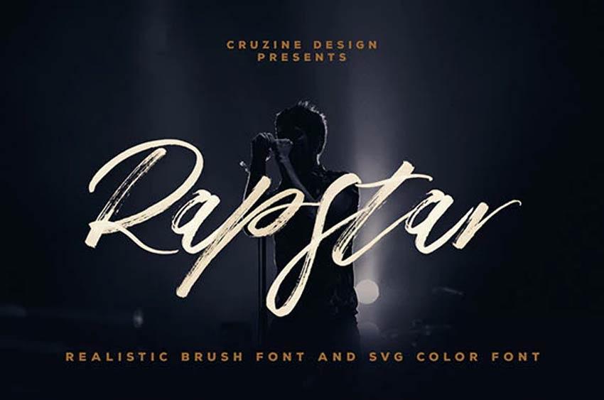 Rapstar Brush Style SVG Font