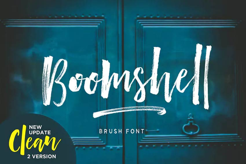 Boomshell Cursive Brush Font Download