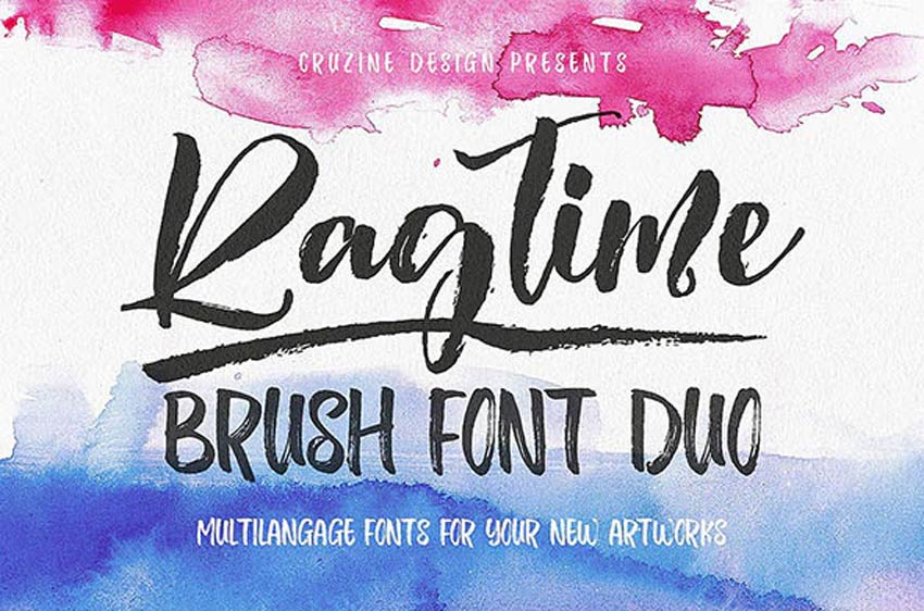 Ragtime - Trendy Brush Calligraphy Font