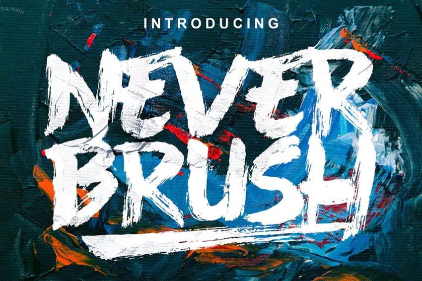 Never Brush Script Bold Font Download