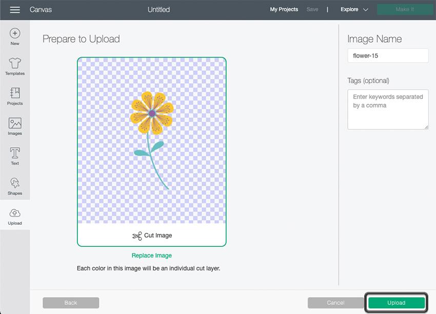 Cricut SVG File Upload