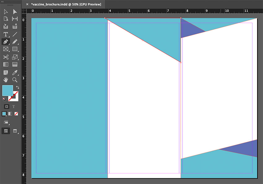 indesign pen tool triangle
