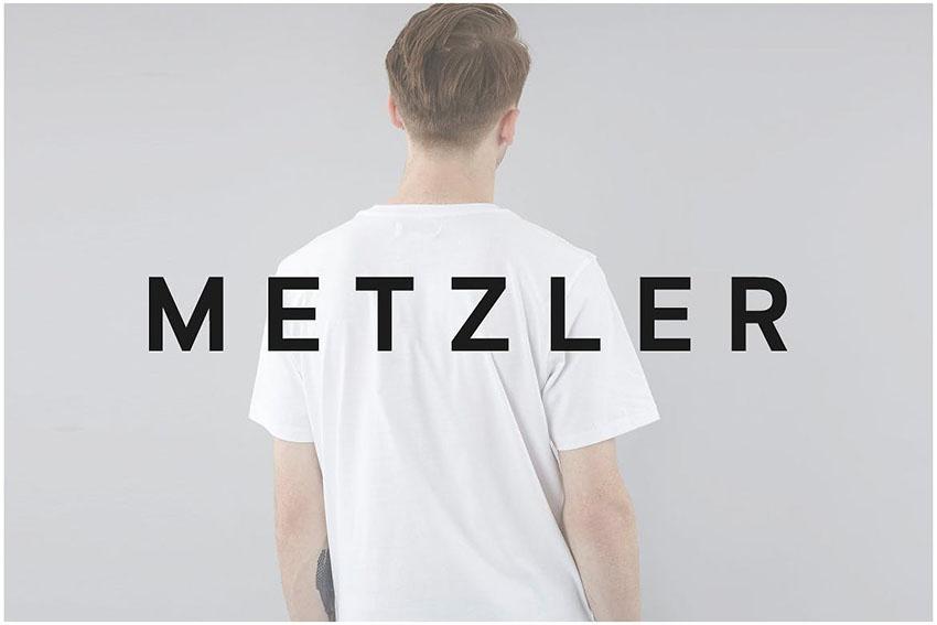 METZLER Minimal Sans-Serif Typeface + Web Font