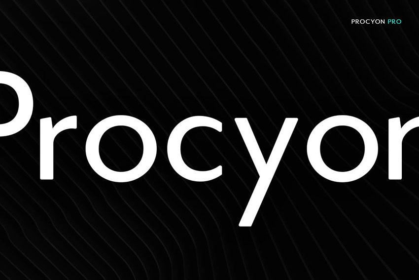 Procyon - Modern Typeface + WebFont