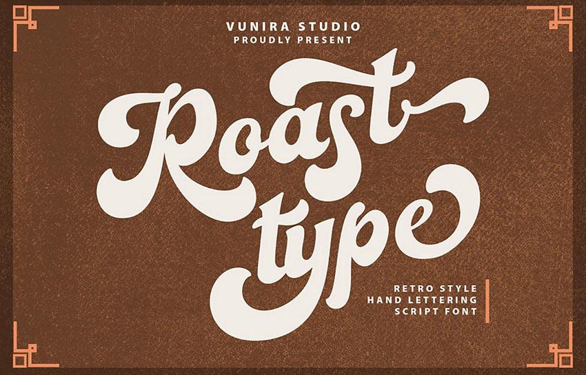 retro script font
