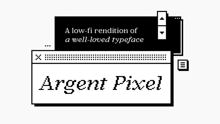 retro pixel font