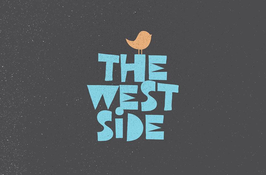 west side retro font
