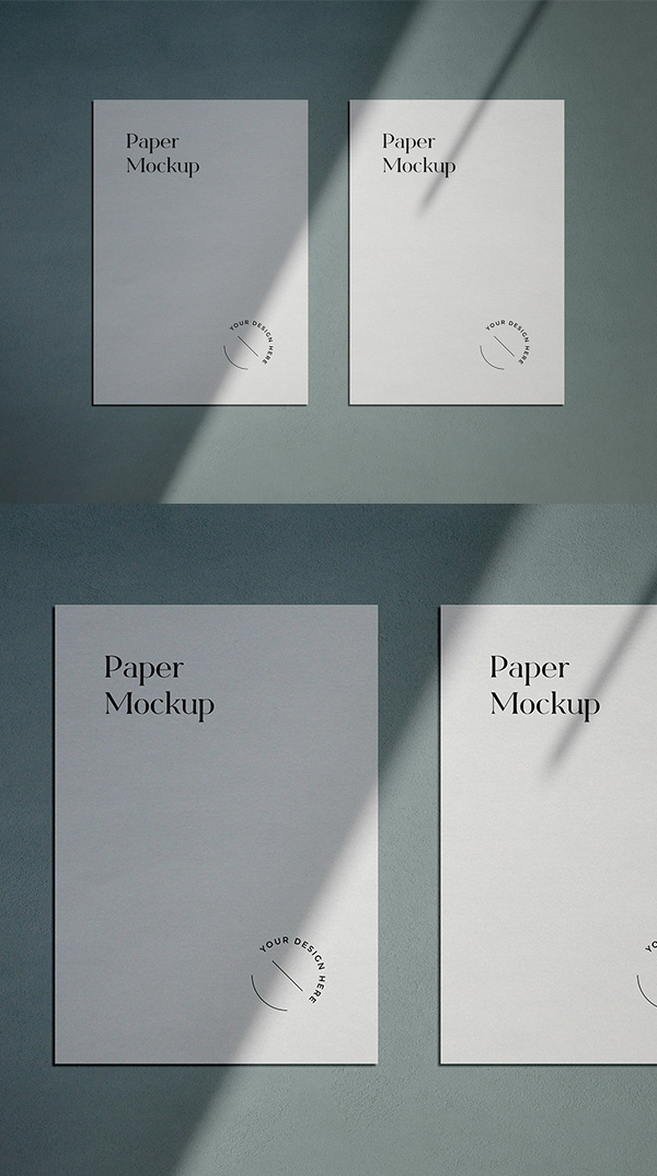 Free A4 Paper Mockup with Shadow