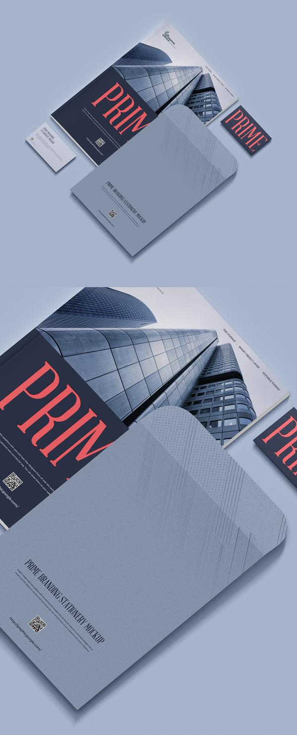 Free Prime Branding Stationery Mockup