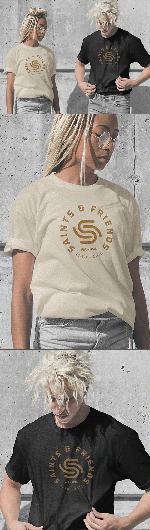 Free T-Shirts PSD Mockup