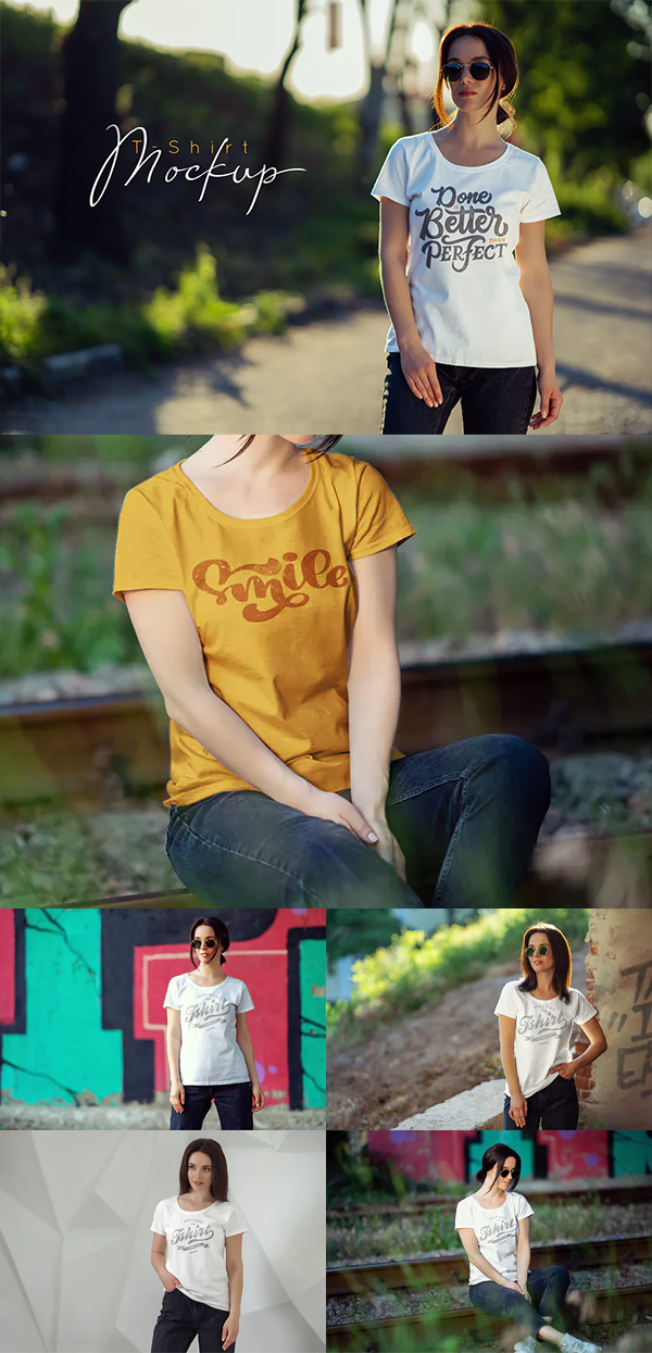 Elegant Female T-Shirt Mock-Up