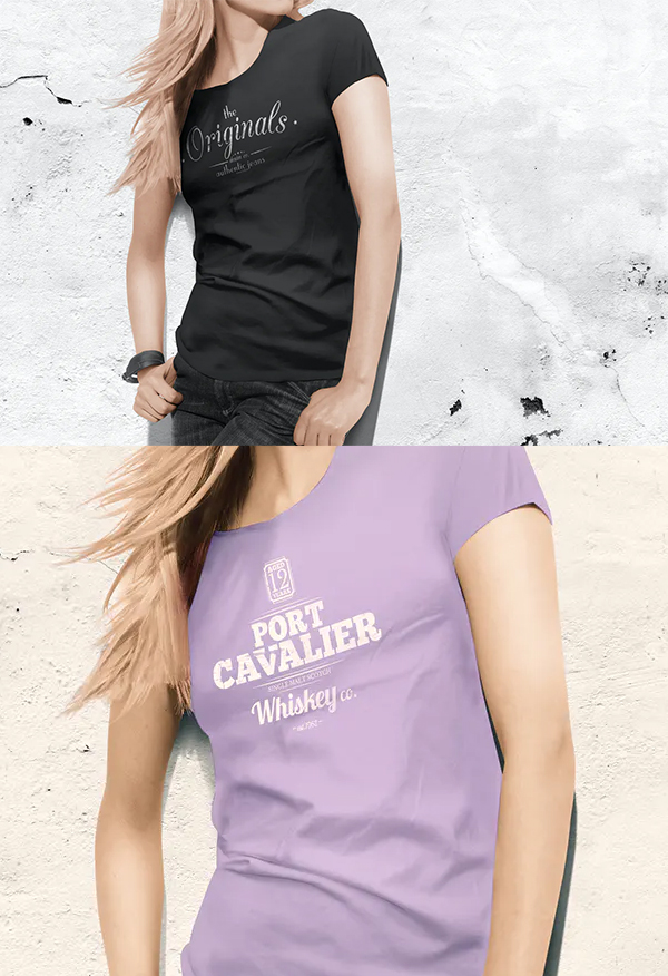 Best Woman t-shirt Mock-up