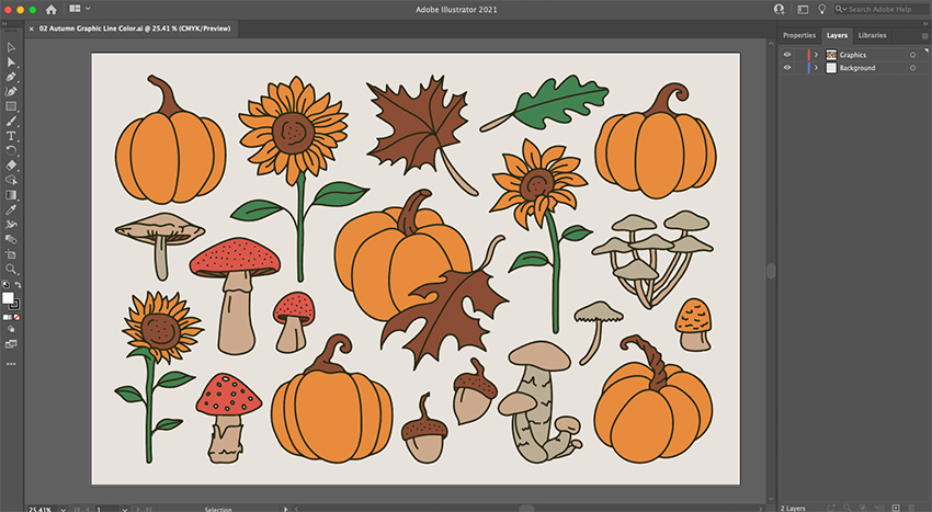 Cricut Illustrator Sunflower Project