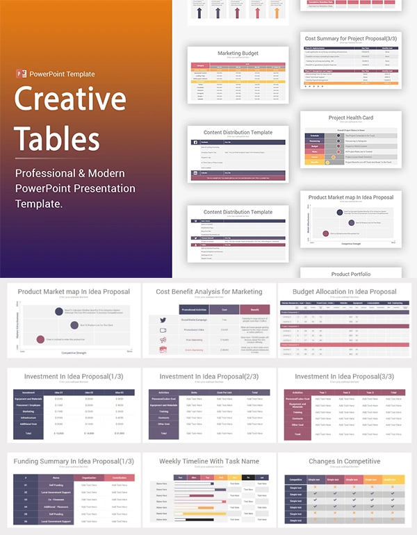 Creative Tables PowerPoint