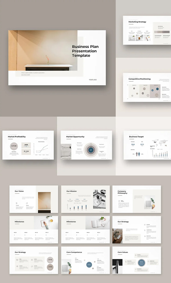 Awesome Business Plan PowerPoint Template