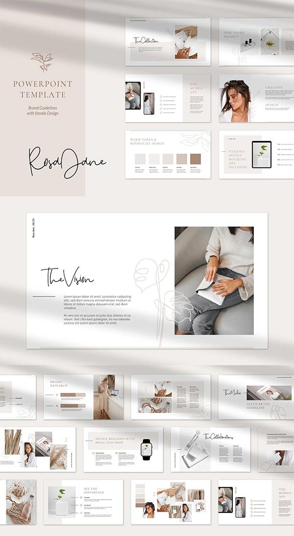 RosaJane PowerPoint Brand Guidelines