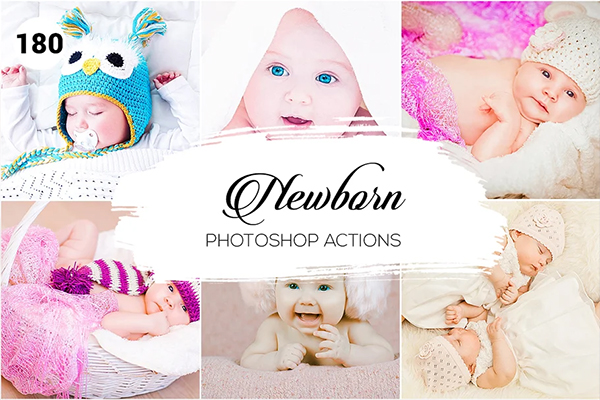 180 Newborn Photoshop Actions