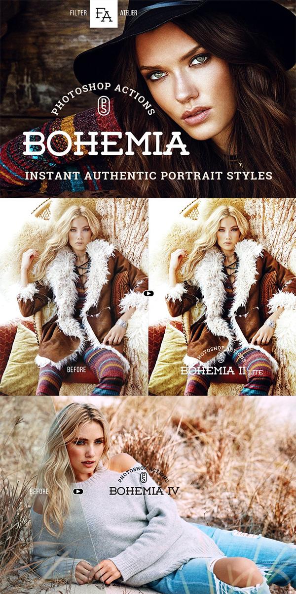 Bohemia Photoshop Actions