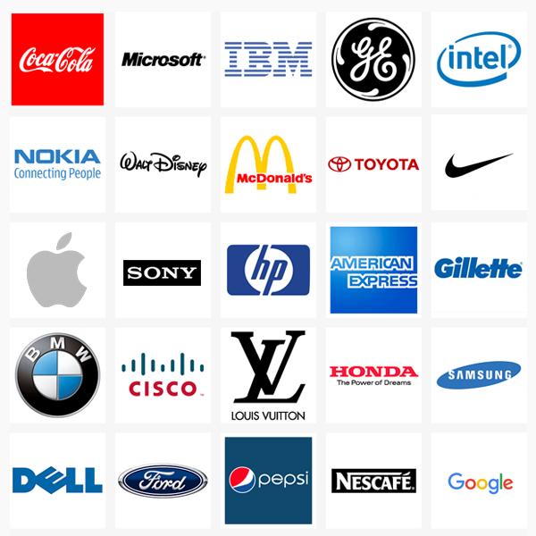 Top brand logos