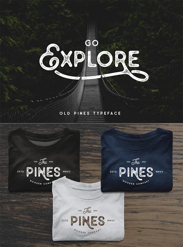 Old Pines Vintage Font