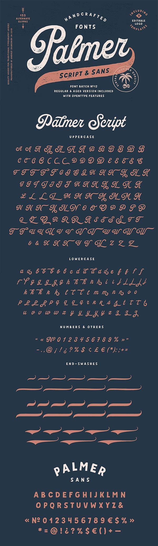 Palmer Script & Sans Font