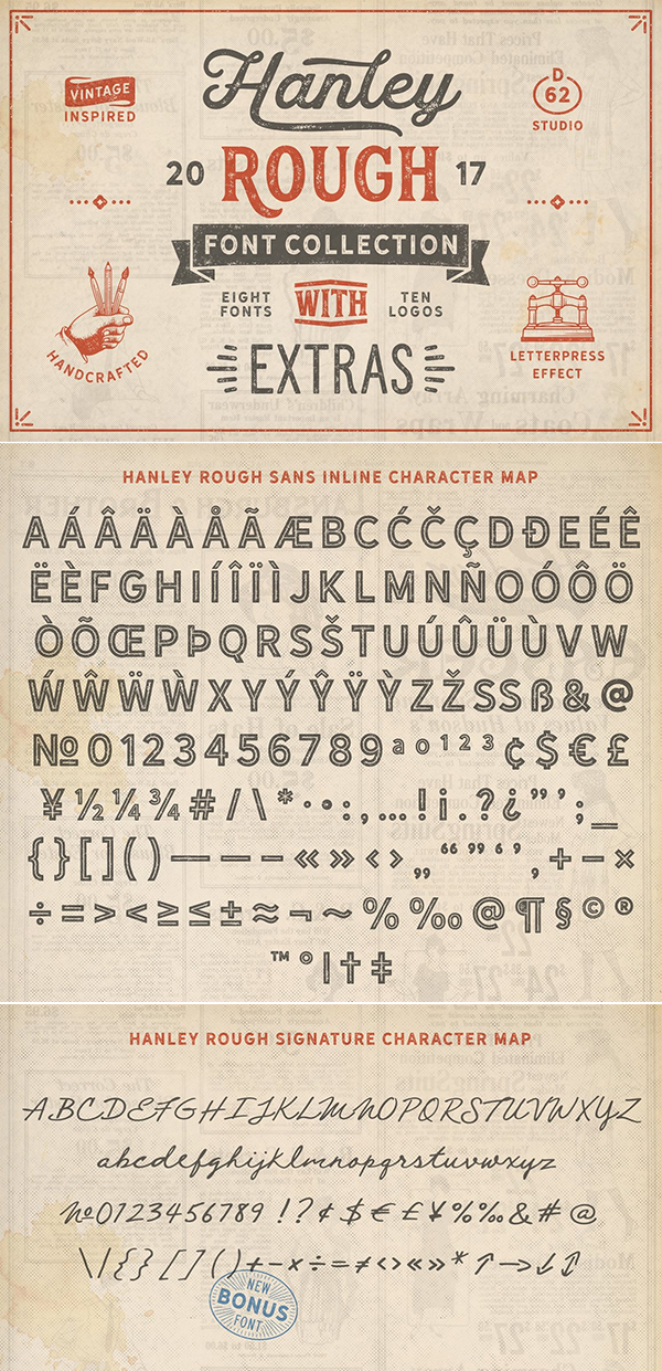 Hanley Rough Font