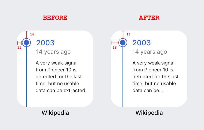 Screenshot of changes made