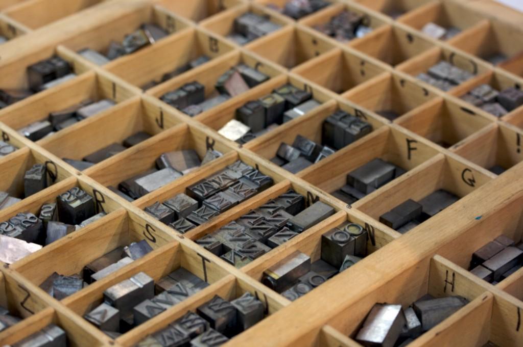 Printers type case