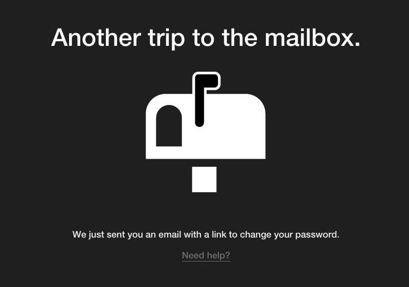 Noun Project password reset screen