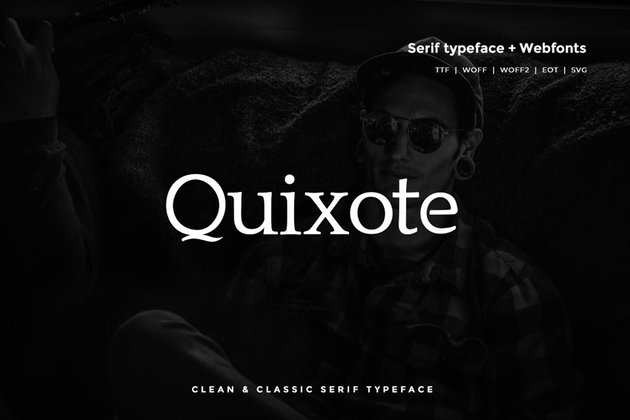 Quixote Typeface Classic serif typeface ttf webfont similar to Garamond