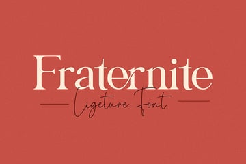fraternite serif font similar to Garamond logo headline modern branding