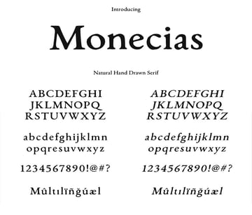 natural hand drawn font similar to Garamond classic trendy print design