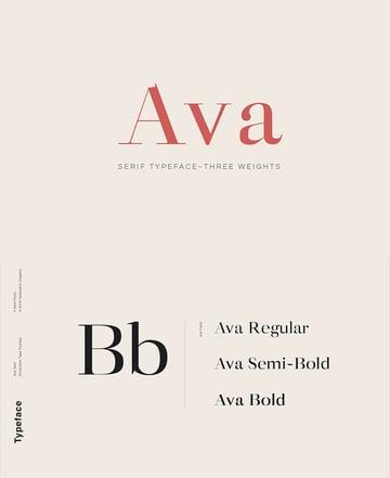 ava classy font similar garamond print design