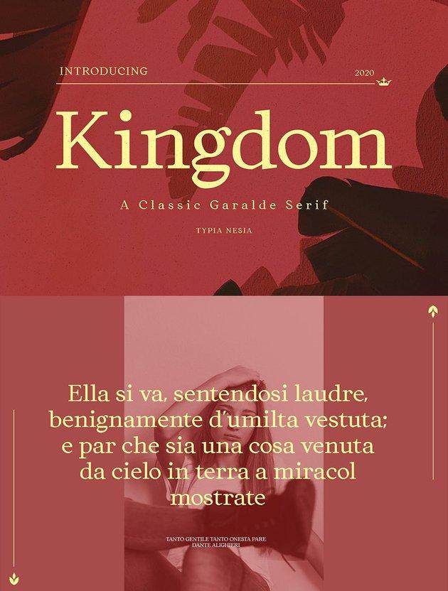 kingdom font elegant slassic serif font similar to garamond