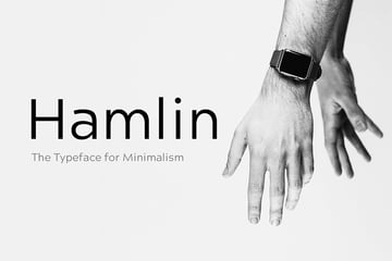 hamlin font typeface pair with garamond