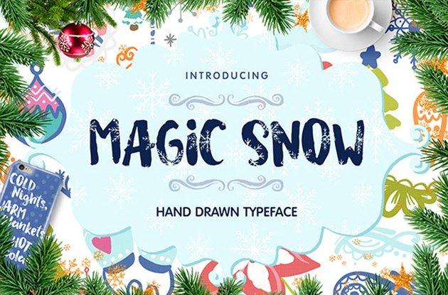 Magic Snow Typeface