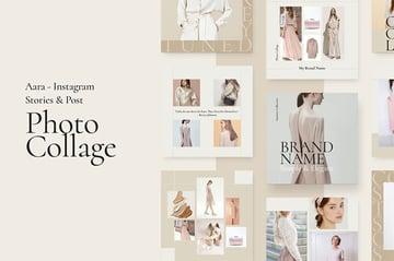 Aara - Photo Collage Instagram Grid Template