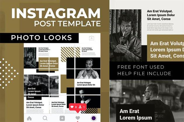 Photo Looks   Instagram Photo Grid Template