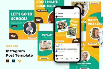 Instagram Page Layout Templates for Educators