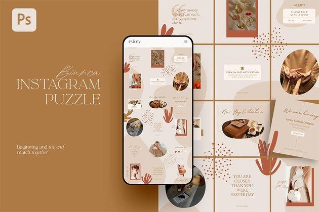 Bianca - Instagram Puzzle Templates