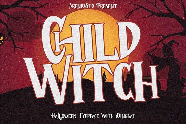 Child Witch - Halloween Typeface