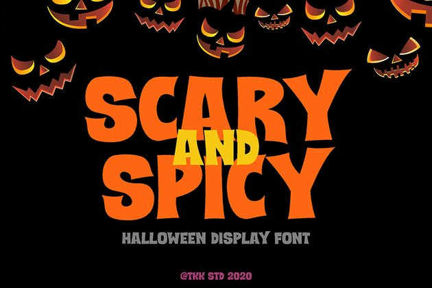 Scary and Spicy - Horror Creepy Font