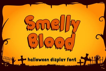 Smelly Blood - Halloween Font