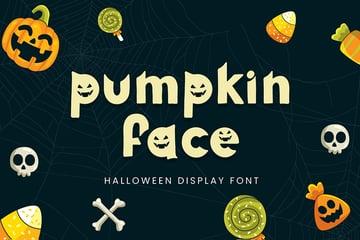 Pumpkin Face - Halloween Font