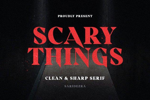 Scary Things - Sharp & Creepy Serif
