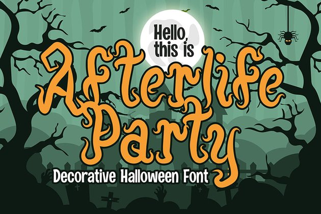 Afterlife Party - Halloween Font