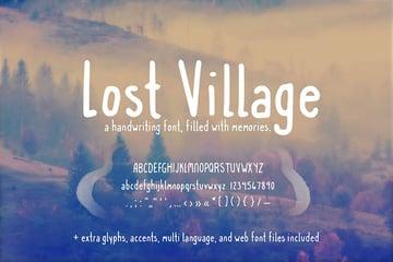 Lost Village Handwriting Font (+ Web Fonts)