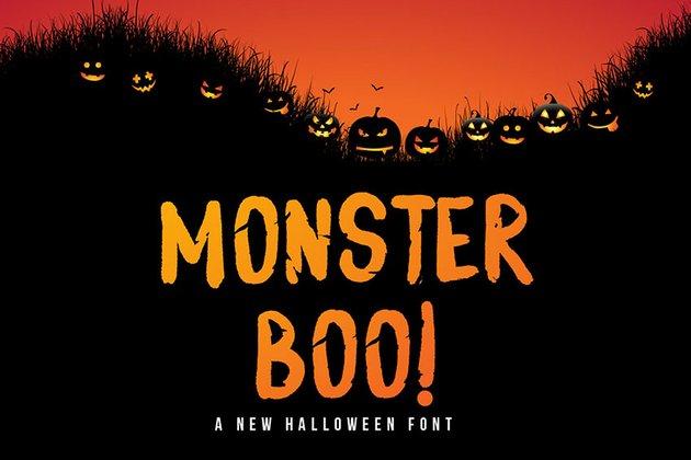 Monster Boo - Halloween Font