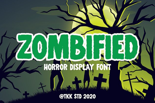 Zombified - Horror and Spooky Font